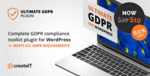 Download free Ultimate GDPR v1.7.6 – Compliance Toolkit for WordPress