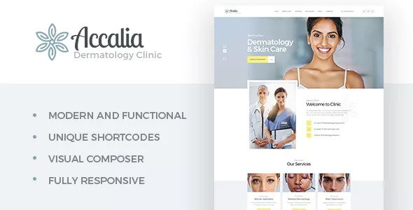 Download free Accalia v1.3.1 – Dermatology Clinic WordPress Theme
