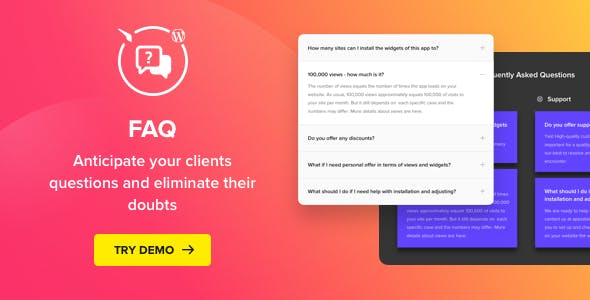 Download free Accordion FAQ Plugin for WordPress v1.3.0