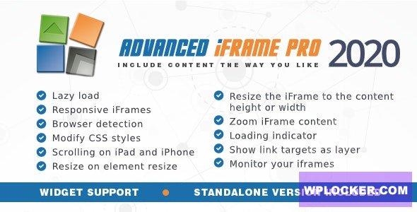 Download free Advanced iFrame Pro v2020.4