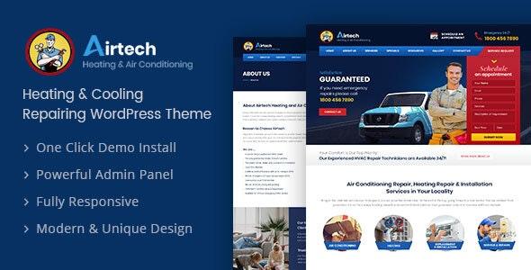 Download free Airtech v1.6 – Plumber WordPress theme