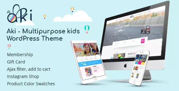 Download free Aki v1.3.1 – Multipurpose Kids WordPress Theme