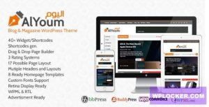 Download free AlYoum v6.0.1 – Retina Magazine and Blog WordPress Theme