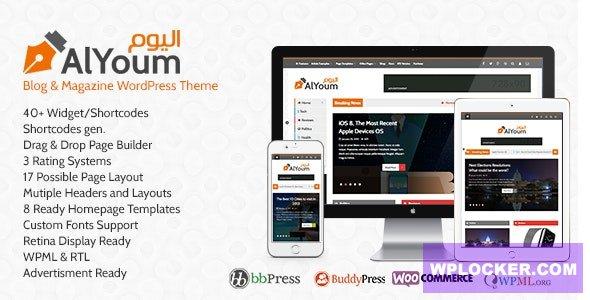 Download free AlYoum v6.0.1 – Retina Magazine and Blog WordPress Theme