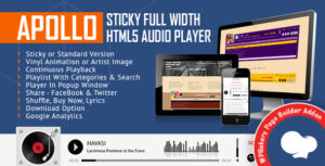 Download free Apollo v2.1.0 – Audio Player for WPBakery Page Builder