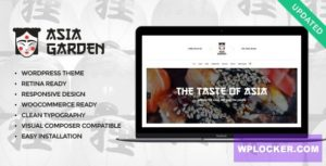 Download free Asia Garden v1.2 – Asian Food Restaurant WordPress Theme
