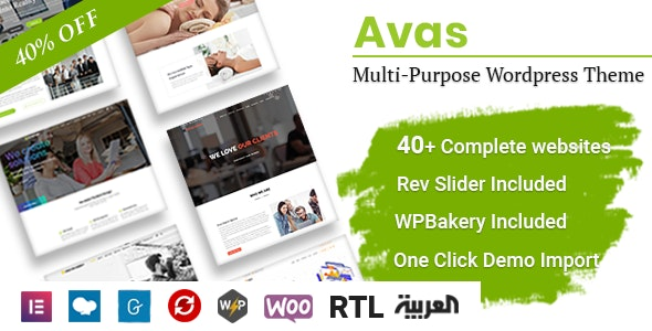 Download free Avas v6.1 – Multi-Purpose WordPress Theme