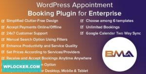 Download free BMA v1.2.3 – WordPress Appointment Booking Plugin for Enterprise