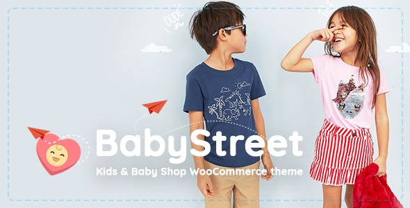 Download free BabyStreet v1.3.3.1 – WooCommerce Theme for Kids Stores and Baby Shops Clothes and Toys