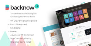 Download free Backnow v2.4 – Crowdfunding and Fundraising Theme
