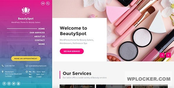 Download free BeautySpot v3.3.4 – WordPress Theme for Beauty Salons