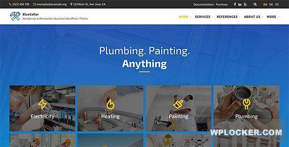 Download free BlueCollar v2.5.3 – Handyman & Renovation Business WordPress Theme