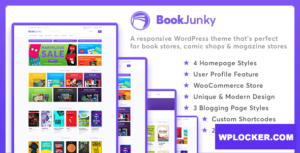 Download free BookJunky 1.0.6 – WooCommerce Book Store for WordPress