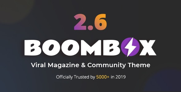 Download free BoomBox v2.6.2 – Viral Magazine WordPress Theme