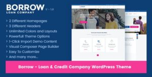 Download free Borrow v1.5.0 – Loan Company Responsive WordPress Theme