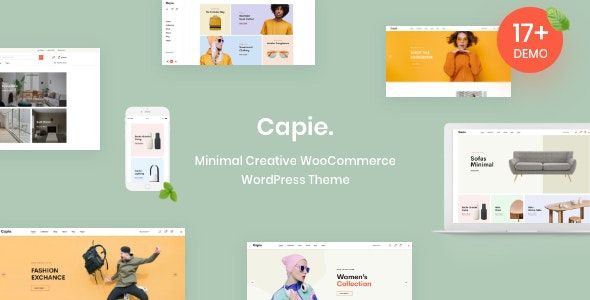 Download free Capie v1.0.13 – Minimal Creative WooCommerce WordPress Theme
