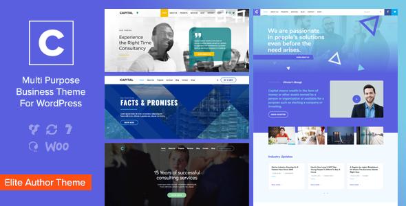 Download free Capital v1.8 – Multi Purpose Business WordPress Theme