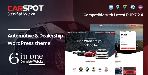 Download free CarSpot v2.2.5 – Automotive Car Dealer WordPress Classified Theme