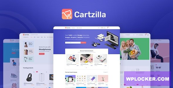 Download free Cartzilla v1.0.2 – Digital Marketplace & Grocery Store WordPress Theme