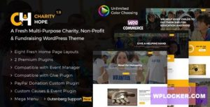 Download free Charity Hope v1.9 – Non-Profit & Fundraising WordPress Charity Theme