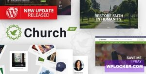 Download free ChurchWP v1.9.3 – A Contemporary WordPress Theme for Churches