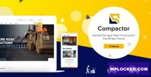 Download free Compactor v1.0.1 – Road Construction WordPress Theme