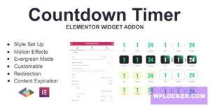 Download free Countdown Timer v1.0.0 – Elementor Page Builder Addon