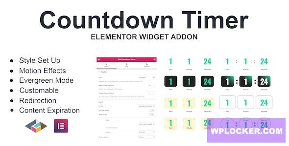 Download free Countdown Timer v1.0.0 – Elementor Page Builder Addon