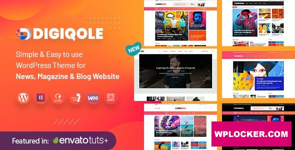 Download free Digiqole v1.2.6 – News Magazine WordPress Theme