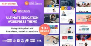 Download free Edumodo v3.2.0 – Education WordPress Theme