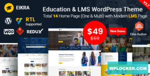 Download free Eikra Education v3.9 – Education WordPress Theme