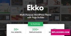 Download free Ekko v1.7 – Multi-Purpose WordPress Theme with Page Builder