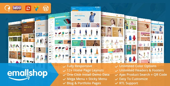 Download free EmallShop v2.2.12 – Multipurpose WooCommerce Theme