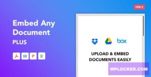 Download free Embed Any Document Plus v2.5.0 – WordPress Plugin