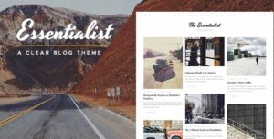 Download free Essentialist v1.3 – A Narrative WordPress Blog Theme