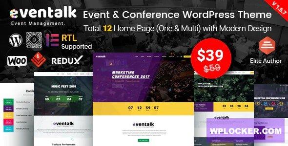 Download free EvnTalk v1.6.2 – Event Conference WordPress Theme