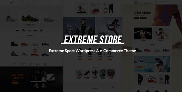 Download free Extreme v1.5 – Sports Clothing & Equipment Store Theme