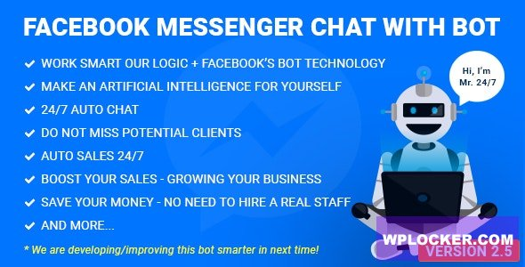 Download free Facebook Messenger Chat with Bot v2.8