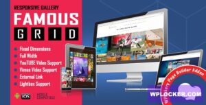 Download free Famous v1.0.2.3 – Responsive Image & Video Grid Gallery for WPBakery Page Builder