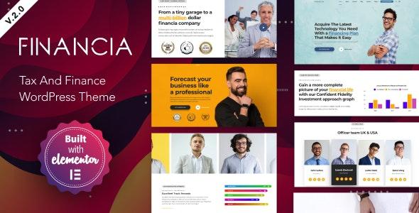 Download free Financia v2.0.1 – Tax and Finance WordPress Theme