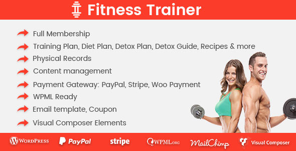 Download free Fitness Trainer v1.4.6 – Training Membership Plugin