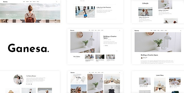 Download free Ganesa v1.0.4 – Minimal WordPress Personal Blog Theme