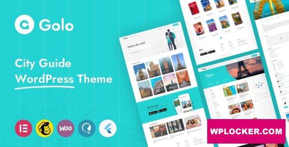 Download free Golo v1.3.1 – City Guide WordPress Theme