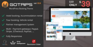 Download free Gotrips v1.5.5 – WordPress Travel Booking Theme