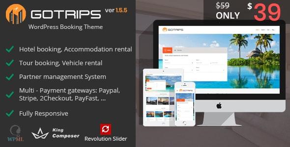 Download free Gotrips v1.5.5 – WordPress Travel Booking Theme
