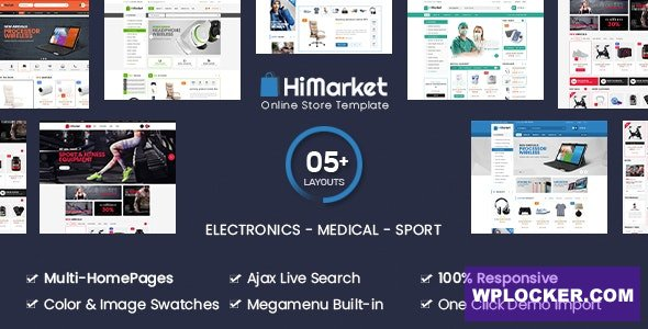 Download free HiMarket v1.3.7 – Electronics Store/Medical/Sport Shop WooCommerce WordPress Theme
