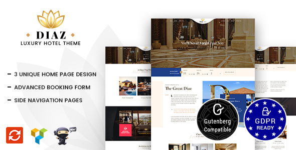 Download free Hotel Diaz v2.1 – Hotel Booking Theme