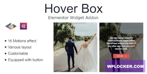 Download free Hover Box Elementor Page Builder Addon v1.0.1