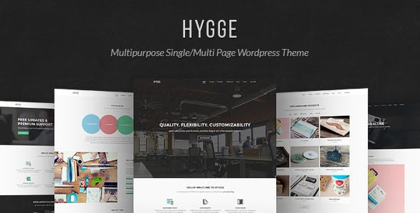 Download free Hygge v1.0.11 – Multipurpose Single/Multi Page WP Theme