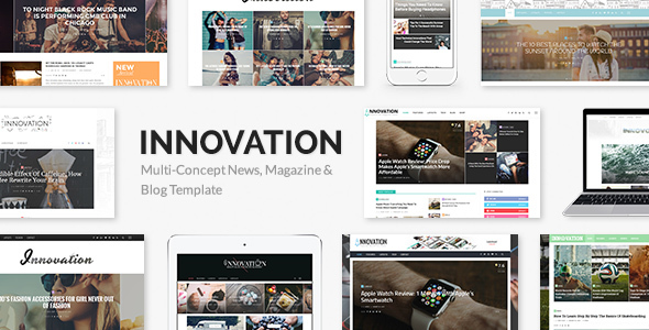 Download free INNOVATION v5.6 – Multi-Concept News, Magazine & Blog Template